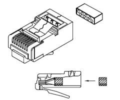 Sentinel Shielded RJ45 Modular Plug Part Number