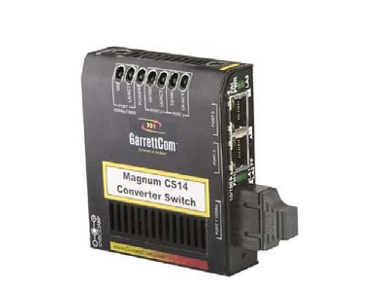 GarrettCom Magnum Hardened Converter Switch Fiber CS14-sc No Cables