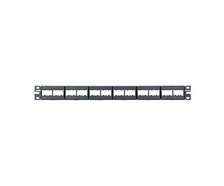 24 Port CPP24WBLY: Panduit Patch Panel Black Modular
